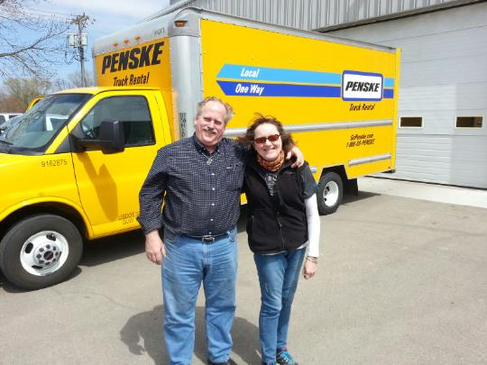 Thanks to Penske Truck Rentals in Rockford, Ill., for donating an 8,000-pound capacity truck for the pick-up and delivery of the oak trees.