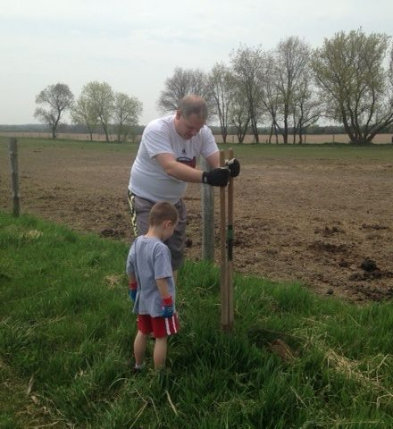 Planting Oak Trees from Rock River Trail at Three Gaits