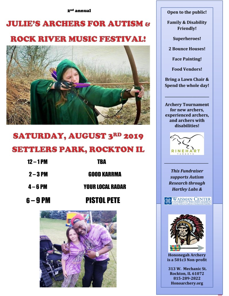 Julie's Archers for Autism & Rock River Music Festival @ Settlers Park | Rockton | Illinois | United States